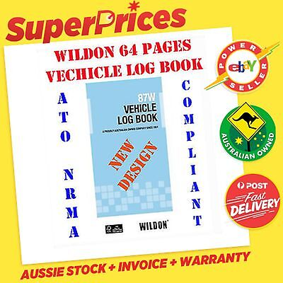 WILDON◉87W POCKET SIZE VEHICLE LOG Bk◉ATO NRMA COMPLIANT◉64 PAGES◉CAR◉TRUCK◉Bike