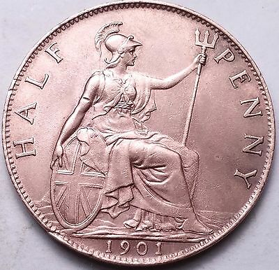 Great Britain 1901 1/2 Penny....foreign Coin