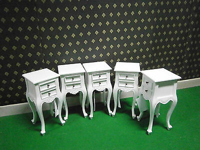 1 x Small Rococo Bedside table Choice of White , Cream, gold leaf or Black
