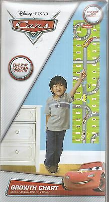 Disney Pixar Cars Track Growth Chart Self Stick and Removable New