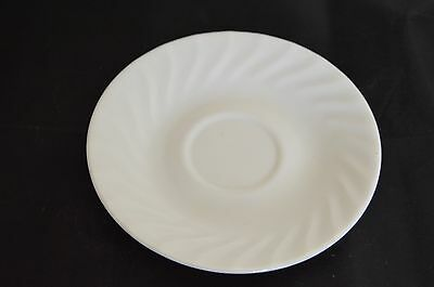 4 New Corelle Enhancements White Swirl Saucers 6""