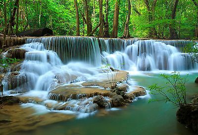 canvas prints framed Waterfall Landscape Art Home Decor Stretched Canvas Art