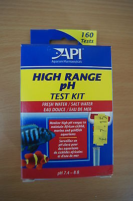 API High Range pH Test Kit - Salt & Fresh water. 160 tests.