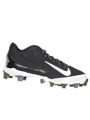 best service 61226 0bde5 Nike Huarache Keystone Low Black White Mens Baseball Cleats US 9 M, EU 42.5