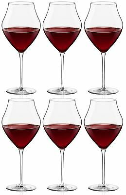 Bormioli Rocco Arte Extra Large Wine Glasses - Gift box Of 6 Glasses - 655ml