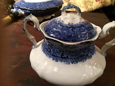 Rialto Maddock flow blue sugar bowl with hairline