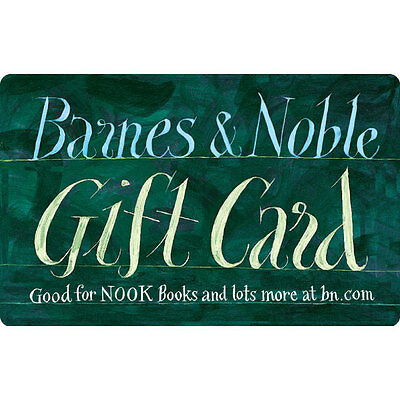$50 / $100 Barnes & Noble Physical Gift Card - FREE 1st Class Mail Delivery
