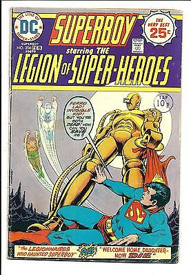 SUPERBOY # 206 (LEGION of SUPER-HEROES, FEB 1975), VG/FN