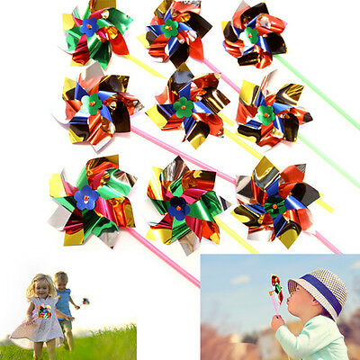 Dazzling Toys 12 Pieces Party Pinwheels Multi Flamboyant Paradise Color Windmill