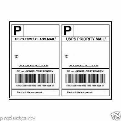 30 Shipping Labels White Blank Half Page Self Adhesive 4 Laser Inkjet Printer