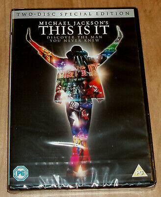 This Is It Michael Jackson´s Edicion Especial 2 Dvd Nuevo Precintado (Sin Abrir)