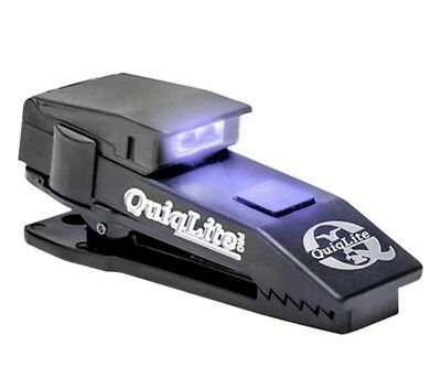 QuiqLite Pro Hands Free Pocket Clip Torch Light Police Security - UV & White LED