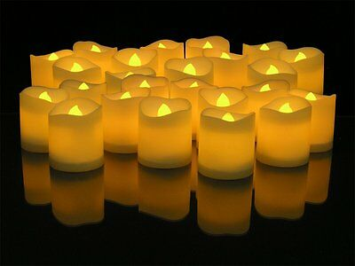 24 Led Tea Light Candle Tealight Flameless Flickering Battery Wedding Party Home