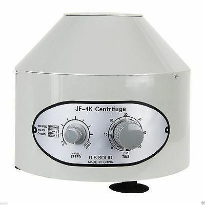 220V Electric Benchtop Lab Centrifuge 4000 rpm 1790g 20 ml x 6