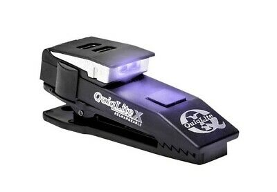 QuiqLite X USB Rechargeable Hands Free Pocket Clip Police Light - UV & White LED