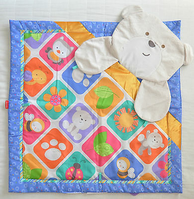 Baby Play Mat Fisher Price Cute Bear Soft NEW 72 x 72cm