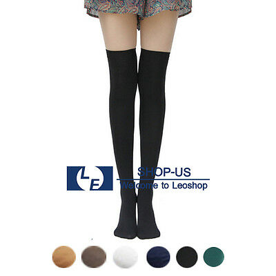 New Womens Ladies Girls Fashion Opaque Thigh High Over Knee Socks Long Stockings