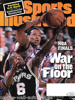 Marcus Camby Nba Hand Signed Autographed Sports Illustrated Magazine! With Coa!