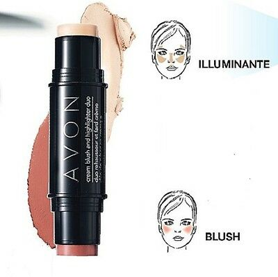 Duo Blush E Illuminante Ideal Flawless 2 In 1 Guance Avon Make Up Trucco Viso