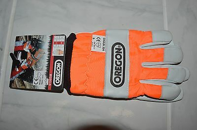 1 Oregon 91305M safety chainsaw protective gloves Medium size 9 cm