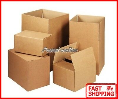 "SINGLE WALL CARDBOARD BOXES 8X6X4"" small paper shipping gift postal mailing new"