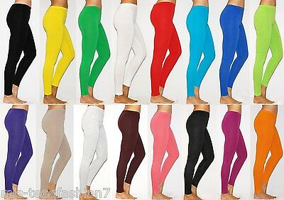 Womens Leggings Plus Size Cotton Full Length Thick Soft Touch UK 8-28