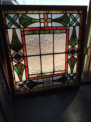 Sg 777 Antique Stained Glass Window Colorful