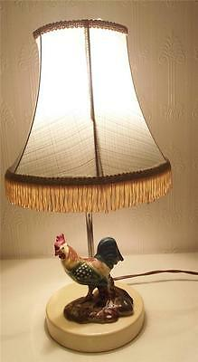 Gorgeous Vintage Art Deco - 1950's Table Lamp  Cockerel  Rooster Chicken Hen