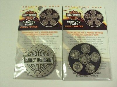 Harley Davidson Armed Forces 44mm Military Challenger Coin Official HD F/S