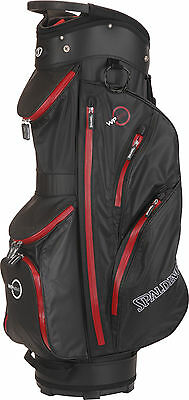 Spalding WP360 Waterproof Cartbag, black/red - NEU - Preishammer! - UVP 229,95