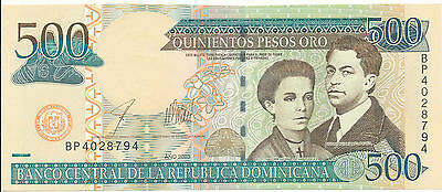 Dominican Republic - 500 Pesos Oro 2003 UNC - Pick 172