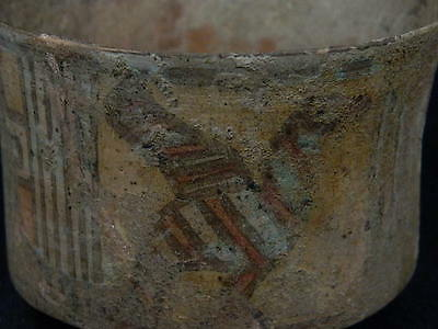 Ancient Teracotta Painted Pot With Birds Indus Valley 2500 BC #SG6326