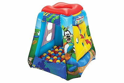 Inflatable Mickey Mouse Ball Pit Play House Unisex Toddlers Kids Portable Tent