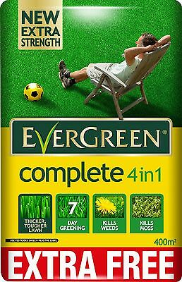 EverGreen 360sqm Complete 4-in-1 Lawn Care Lawn Food Weed and Moss Killer Bag