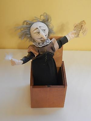 Vintage 1985 Shakespeare wood Jax Jack in the box touch open