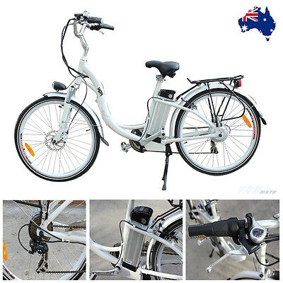 Electric Bike Scooter Motorised Push Bicycle E-Bike 250W Motor Lithium Battery