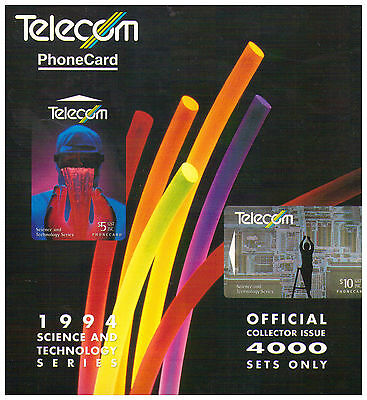 1994 Telecom New Zealand Phone Card Pack - Science & Technology Series