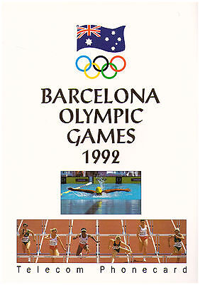 1992 Barcelona Olympic Games - Telecom Phonecard Pack