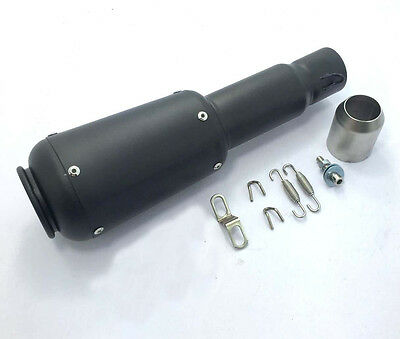 NEW Slender Black 51mm Motorcycle Slip-On Race Can Exhaust Pipe Silencer Muffler