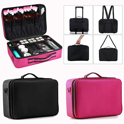 Professional Makeup Bag Portable Cosmetic Case Storage Box Travel Carry New