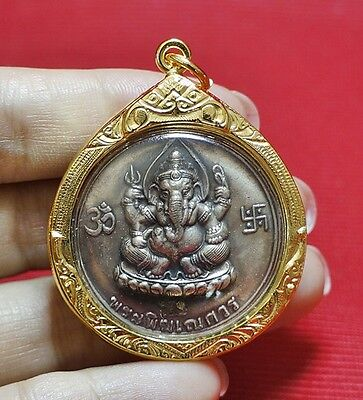 Phra Pikanet (Pi Ganesh) Amulet Necklace Pendant for Love Lucky Wealth #30