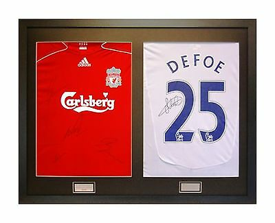 Ready Made Frame For 2 Signed Shirts With Front Mount