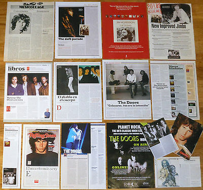 THE DOORS clippings 1970s/00s photos magazine Jim Morrison articles cuttings