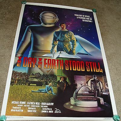 The Day The Earth Stood Still 1994 Rerelease Horror Movie Poster Rare Killian