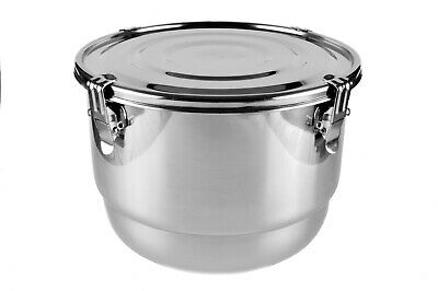 CVault 8 Litre Humidity control Stainless Steel Container - Free UK NEXT DAY P&P
