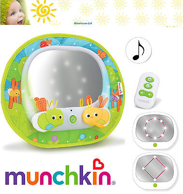 Munchkin Baby Insight Magical Firefly Mirror Baby Car Travel Musical Remote Cnt