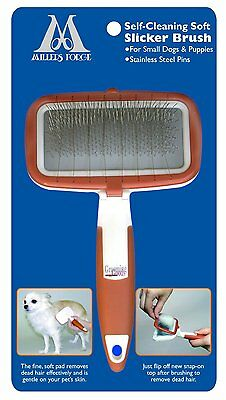 Millers Forge 83960 Self Cleaning Soft Slicker Brush Small