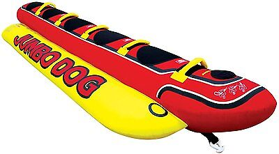 5 Person Jumbo Dog Towable Inflatable Hot Dog Weiner Rider Tube Boat Water Float