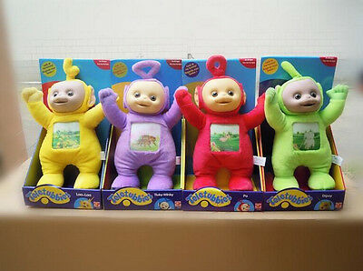 Set of 4 TELETUBBIES 33CM TINKY WINKY DIPSY LA LA PO PLUSH SOFT TOYS Without box