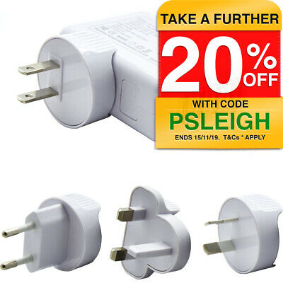 Universal World travel adapter 4 USB Plugs Charger AC power UK US EU AU NZ